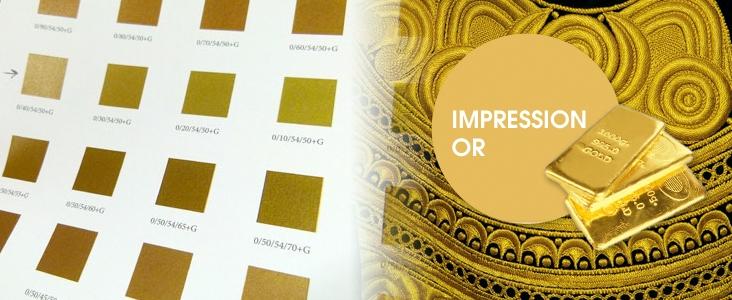 Imprimerie en doré argent cuivre sur brest