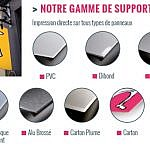 Gamme supports rigides pour impression grand format