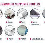 Gamme supports souples pour impression grand format